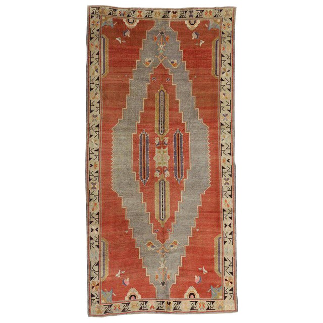 Early 20th Century Antique Caucasian Tribal Rug - 4′9″ × 9′8″ For Sale
