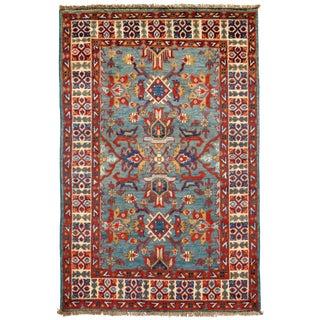 Contemporary Pak Kazak Lamb's Wool Rug - 2′8″ × 4′2″ For Sale