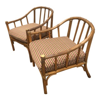 Vintage McGuire Bamboo Club Chairs - a Pair For Sale