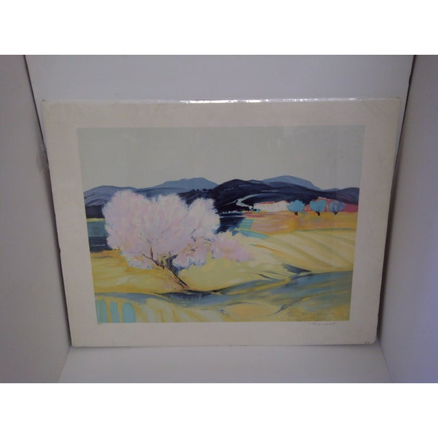 """Open Fields"" Print by Claude Hemeret - Image 2 of 8"