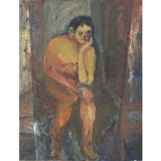 Pensive Man Painting