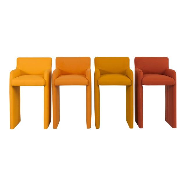 Milo Baughman Gradient Stool Chairs - Set of 4 - Image 1 of 9
