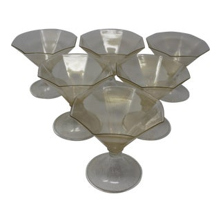 Vintage Set of 6 Murano Glass Apertifs For Sale