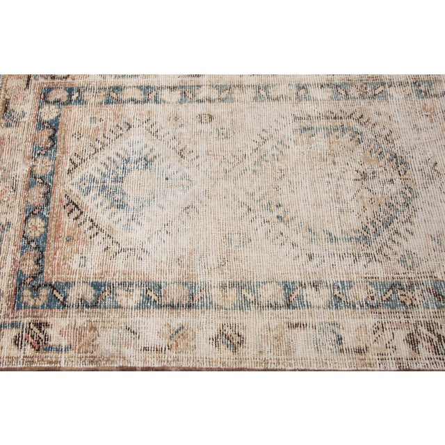 "1910s Apadana-Antique Persian Distressed Rug, 3'1"" X 10'1"" For Sale - Image 5 of 9"