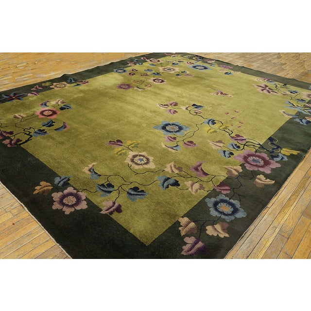 Antique Chinese Art Deco Rug For Sale - Image 4 of 13