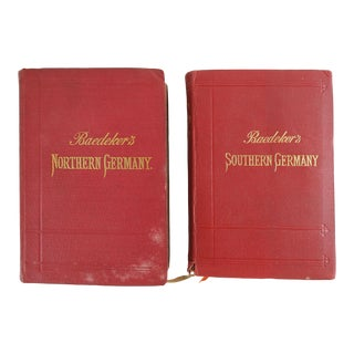 Baedeker's Germany Travel Guides 1897 & 1914 - a Pair For Sale