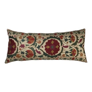 1960s Mediterranean Hand Embroidered Suzani Pillow For Sale