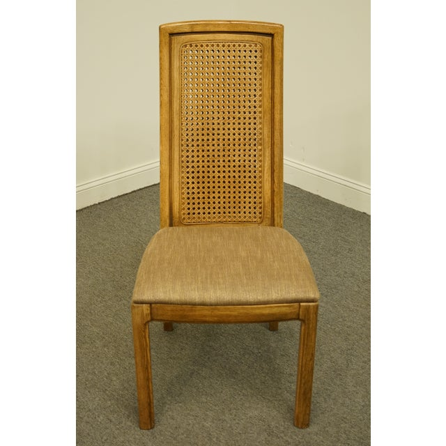 Contemporary Vintage Thomasville Furniture Forecast Collection Contemporary Cane Back Dining Side Chair For Sale - Image 3 of 9
