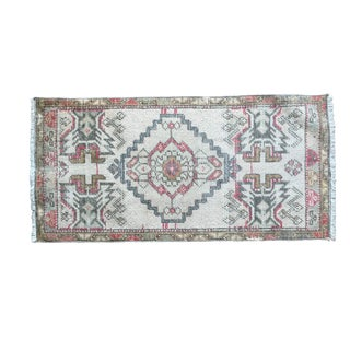 Vintage Turkish Door Mat-1′7″ × 3′7″ For Sale