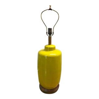 Mid-Century Polished Saffron Polished Lamp