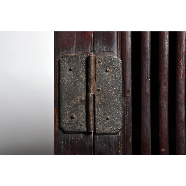Mid 19th Century Chinese Lattice Kitchen Cabinet With Original Patina For Sale - Image 9 of 13