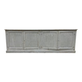 19th C French Painted Enfilade - Credenza - Buffet For Sale