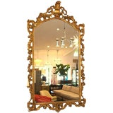 Image of A Gold Gilt Carved Wood Palatial Mirror For Sale