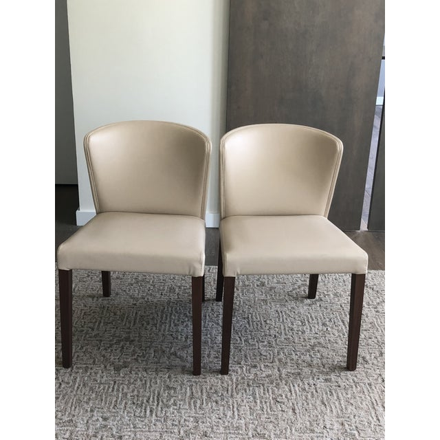 Crate & Barrel Italian Mid-Century Modern Dining Chairs - A Pair For Sale In Tampa - Image 6 of 6
