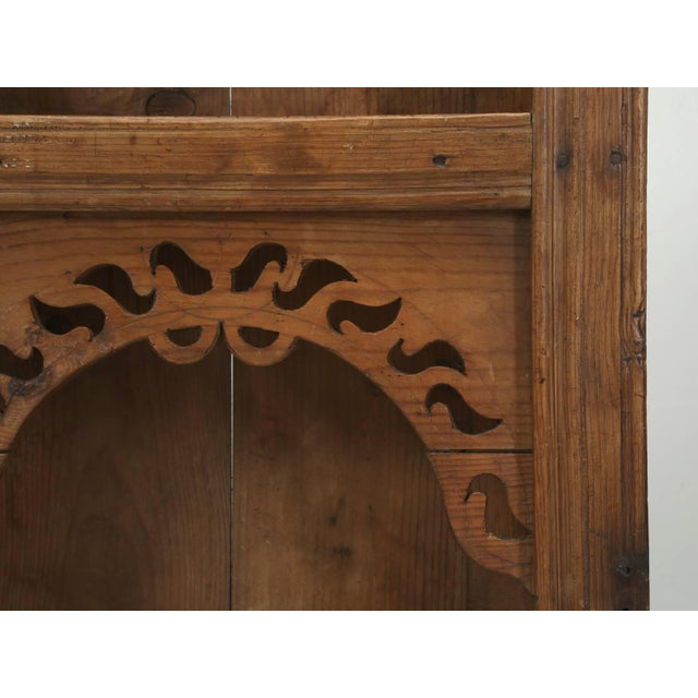 Antique Pine Hanging Shelf Unit, or Open Cupboard For Sale In Chicago - Image 6 of 9