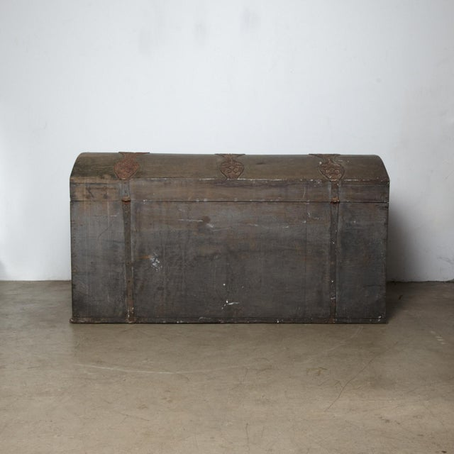 Danish Original Painted Dowry Chest Circa 1835 For Sale - Image 9 of 11
