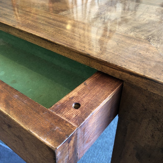 Custom Parquet Extension Dining Table For Sale - Image 10 of 13