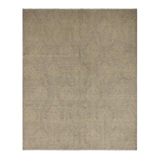 Kafkaz Sun-Faded Vinita Gray/Ivory Wool&Silk Rug - 8'0 X 9'11 For Sale