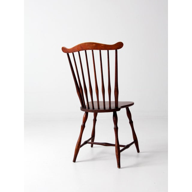 Brown Antique Fan Back Windsor Chair For Sale - Image 8 of 10