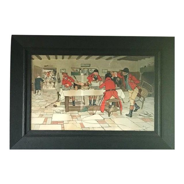 Cecil Aldin Hunt Print in Wood Frame For Sale