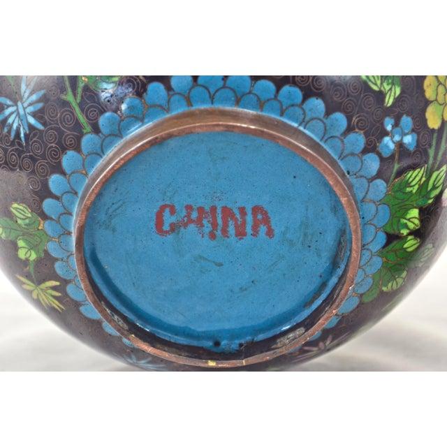 Antique Floral Cloisonné Longevity Jar - Image 7 of 9