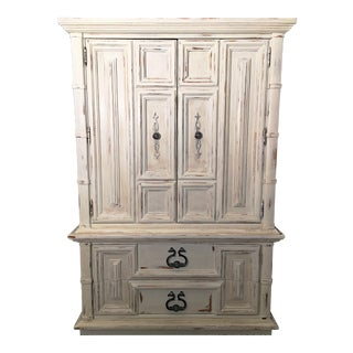 1980s French Country Thomasville White Armoire