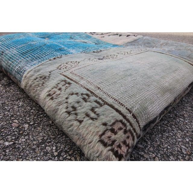 Vintage Turkish Patchwork Floor Pillow - Image 4 of 5