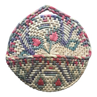 Vintage Boho Sea Grass Basket