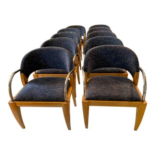 1990s Vintage Mitchell Pickard Brueton Willow Chairs - Set of 10 For Sale