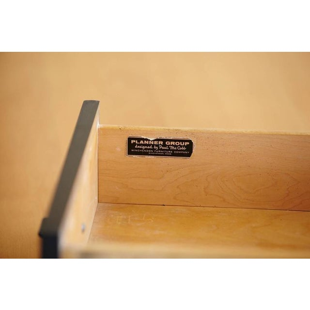 Wood 5 Drawer Double Sided Two Tone Black, Birch Desk by Paul McCobb for Planner Group For Sale - Image 7 of 8