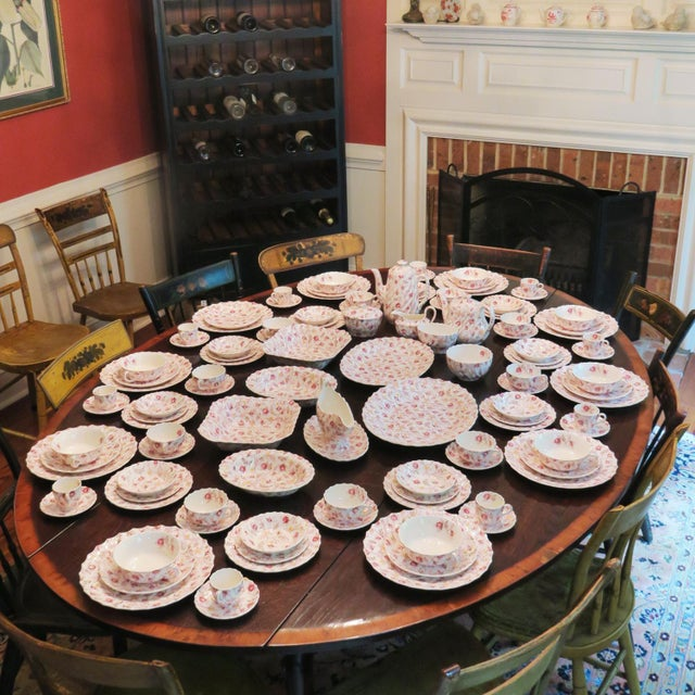 Vintage Copeland Spode Rosebud Chintz China Dinnerware Set - 124 Piece Set For Sale - Image 11 of 13