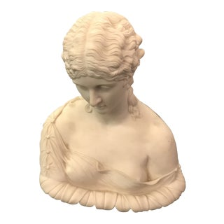 1920s French Women Porcelain Bust For Sale