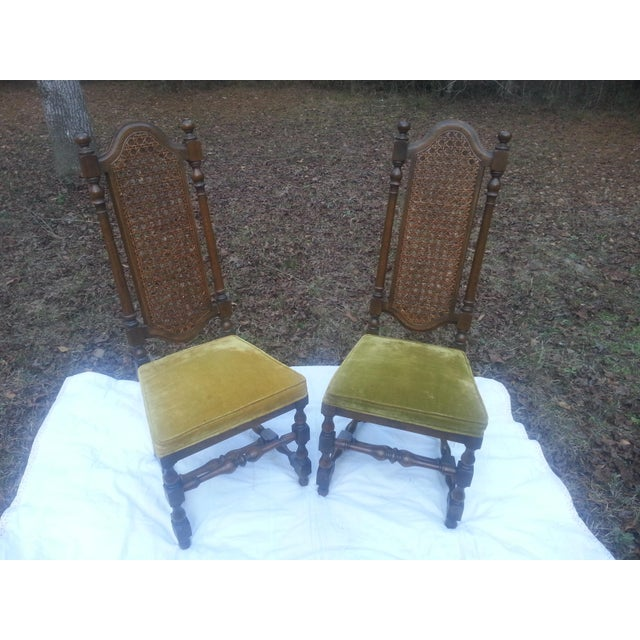 1929 Century Furniture Company Cane Chairs - A Pair For Sale In Dallas - Image 6 of 7