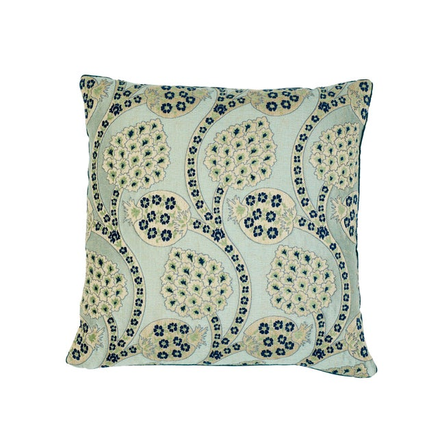 Early 21st Century Schumacher Persephone Pillow in Celestial For Sale - Image 5 of 5