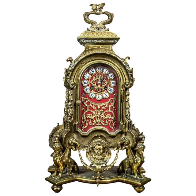 French Mantel Clock, circa 19th Century For Sale