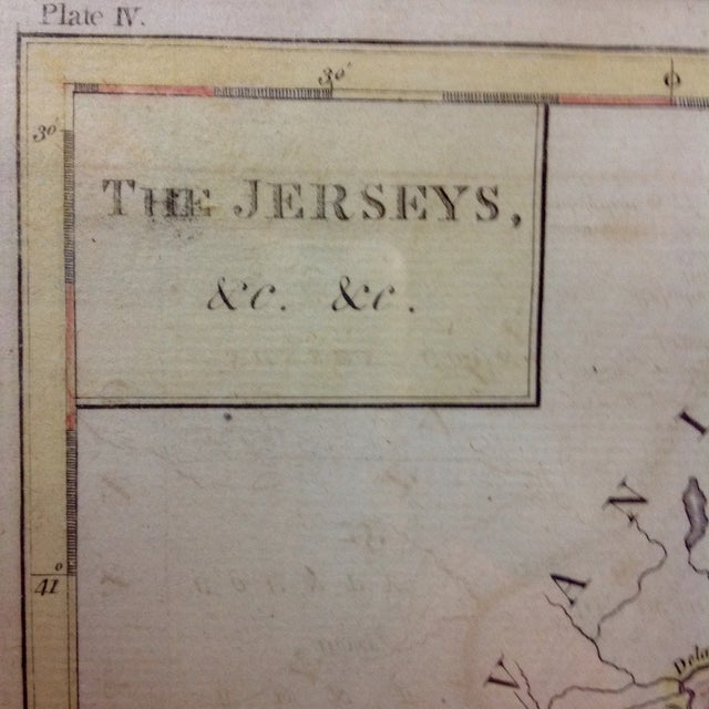 "1788 ""The Jerseys"" Hand Colored Engraved Map - Image 4 of 10"