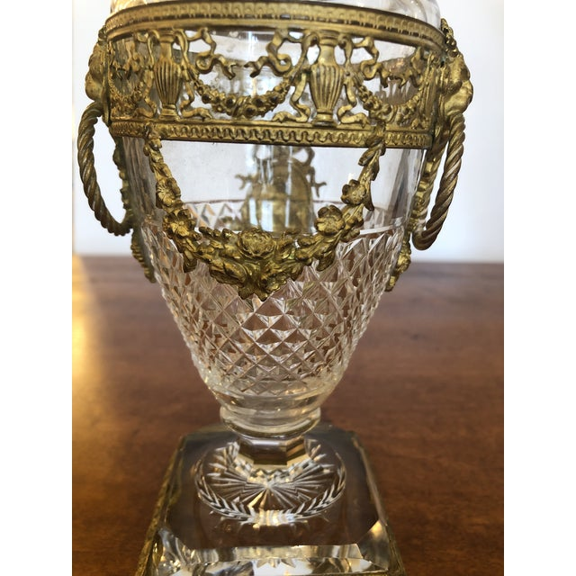 Mid 19th Century French Cut Crystal and Ormolu Mounted Vase For Sale - Image 5 of 8