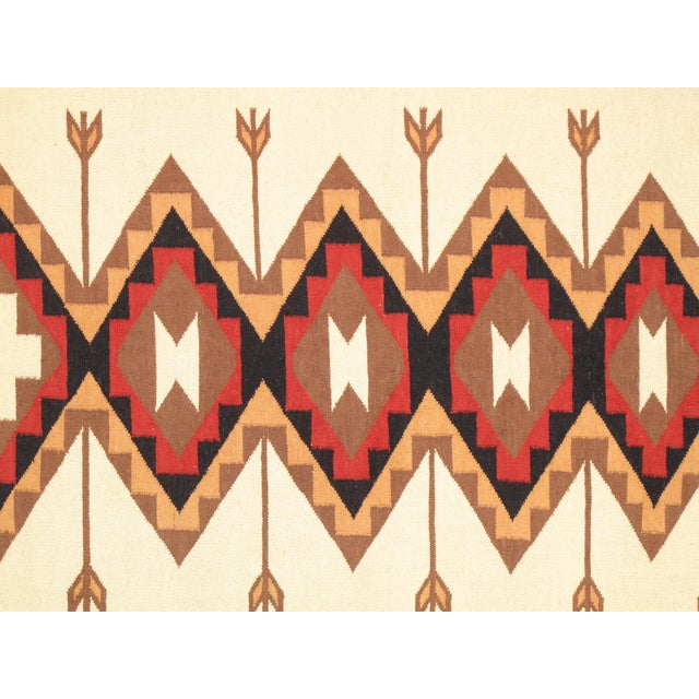 "Navajo Decorative Hand-Woven Rug - 5'3"" X 6'11"" - Image 2 of 3"