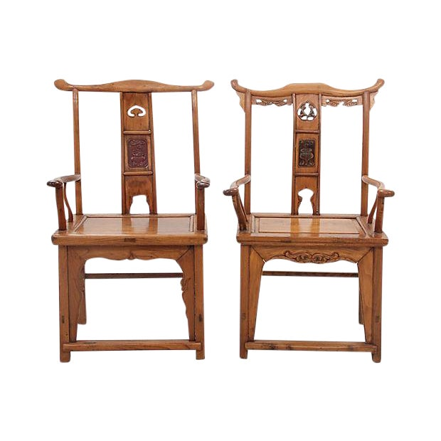 Antique Yolk Chairs - a Pair For Sale