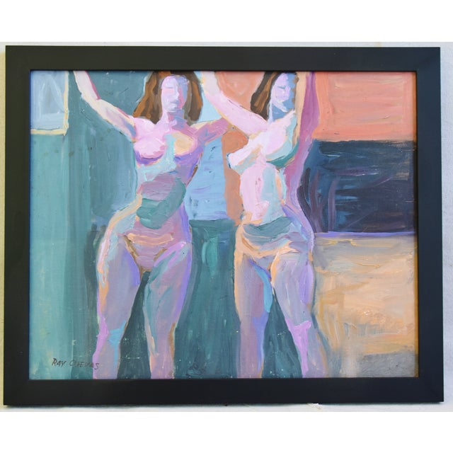 Modern Ray Cuevas, Plein Air Oil Painting Female Nudes For Sale - Image 10 of 10
