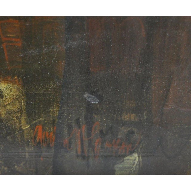 """1960s 1960's Gordon Corson """"Cargo East"""" Vintage Acrylic Painting For Sale - Image 5 of 8"""