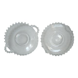 1950s Candlewick Small Serving Trays - a Pair For Sale