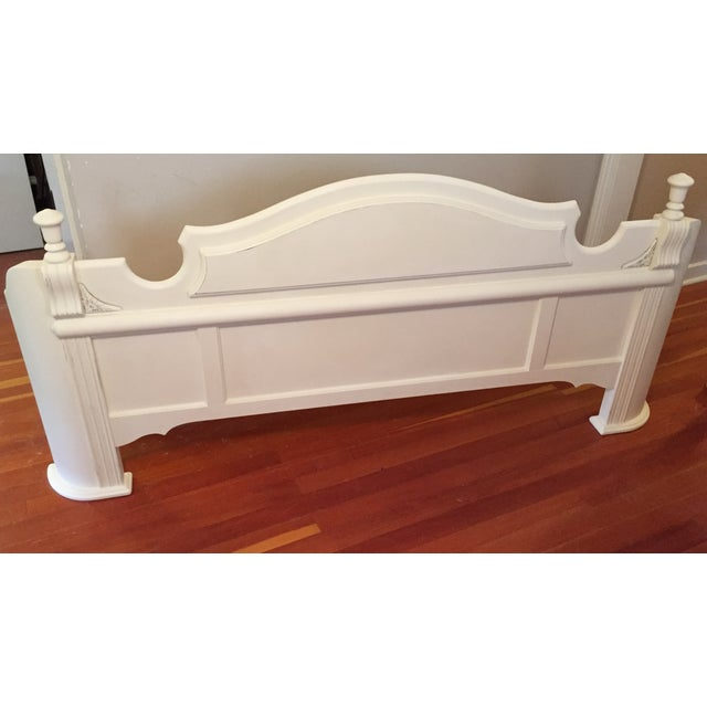 White King Size Bed Frame - Image 6 of 9