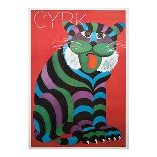 "1978 Hubert Hilscher ""Cyrk"" Large Offset Lithograph For Sale"