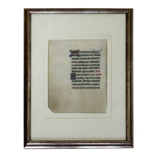 Antique Framed Book of Hours 15th Century French Gouache Gold Leaf For Sale