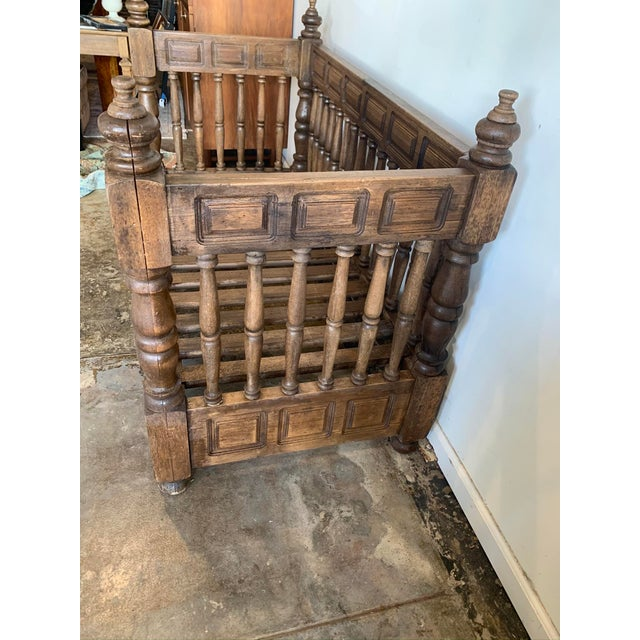 Early 20th Century Early 20th Century European Wood Daybed Frame For Sale - Image 5 of 8