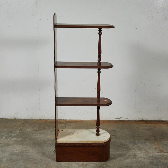 Mid 19th Century Late 19th Century English Chemist Mahogany Shelf For Sale - Image 5 of 12