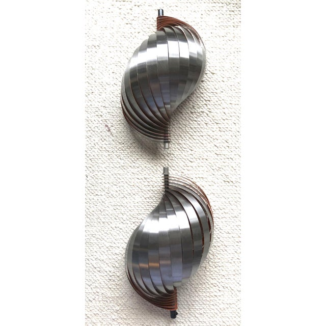 1980s Henri Mathieu Pair of Kinetic Sconces For Sale - Image 5 of 6