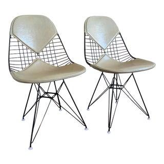 1953 Eames Bikini Eiffel X2 Base Henry Miller La Wire Chairs - a Pair For Sale