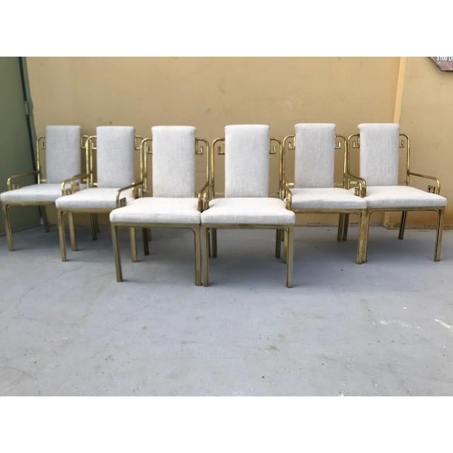 Gold Mastercraft Greek Key Dining Chairs - Set of 6 For Sale - Image 8 of 8